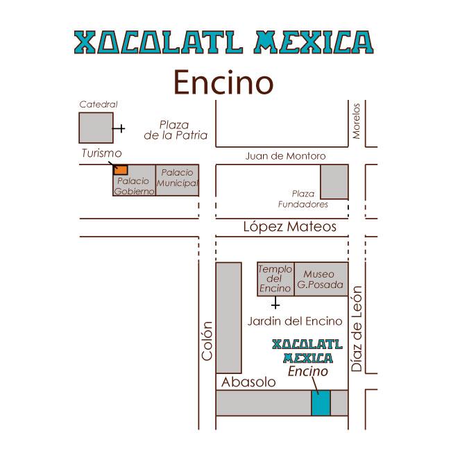 Croquis Xocolatl Mexica Encino