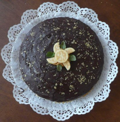 Pastel de cacao con guayaba - Xocolatl Mexica