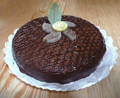 Pastel de chocolate con guayaba - Xocolatl Mexica